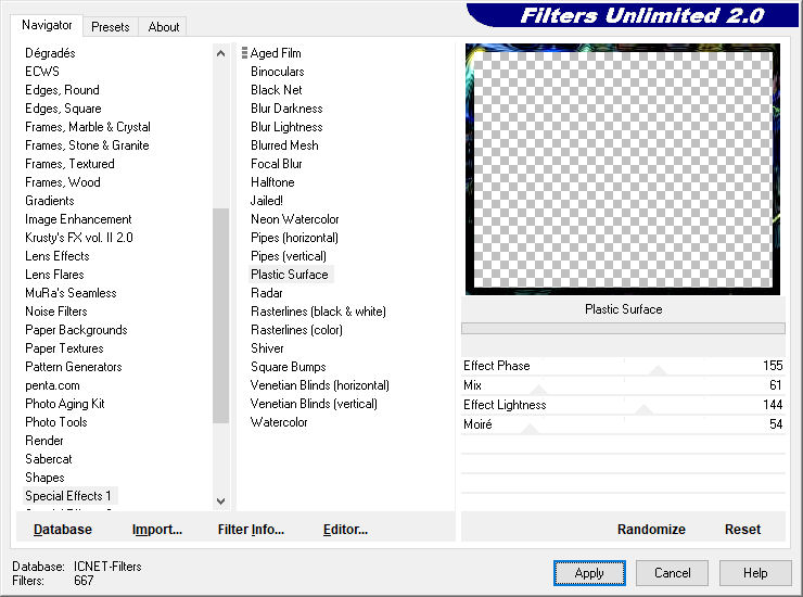 les 6   Filters Unlimited Special Effects 1